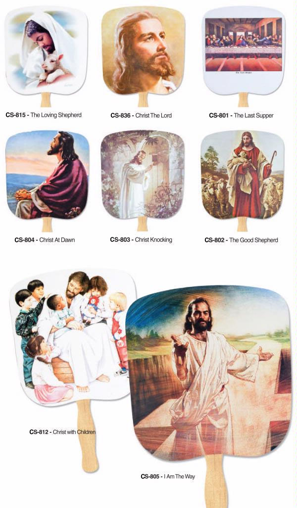 Custom Printed Promotional Religious Hand Fans