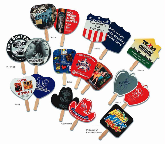 Custom Printed Promotional Scenic Hand Fans
